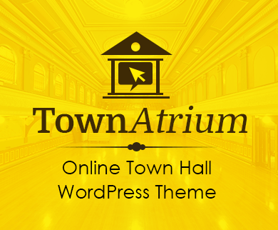 TownAtrium - Online Town Hall WordPress Theme