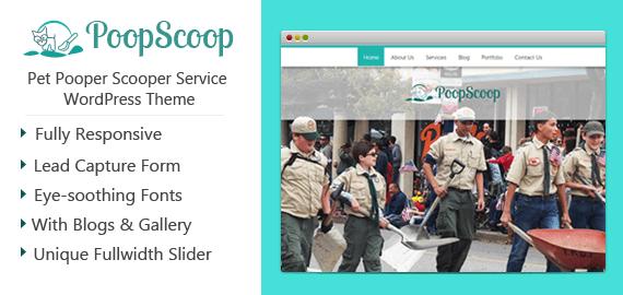 Pet Pooper Scooper Service WordPress Theme