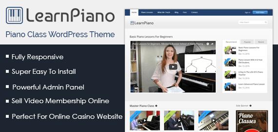 Piano Class WordPress Theme