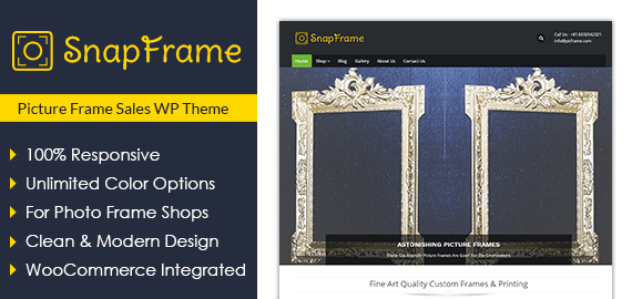 Picture Frame Sales WordPress Theme