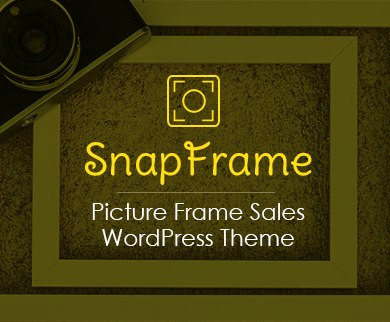 SnapFrame - Picture Frame Sales WordPress Theme
