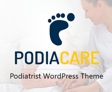 PodiaCare - Podiatrist Doctor WordPress Theme & Template