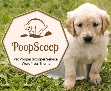 PoopScoop - Pet Pooper Scooper Service WordPress Theme
