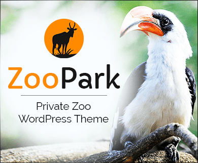ZooPark - Private Zoo WordPress Theme