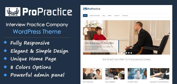 Interview Practice Company WordPress Theme