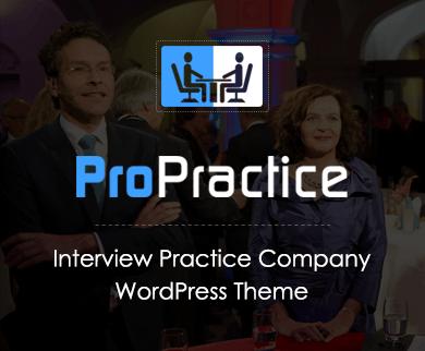ProPractice - Interview Practice Company Corporate WordPress Theme