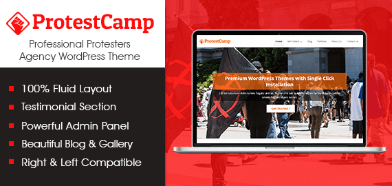 Professional Protesters Agency WordPress Theme