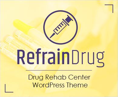 RefrainDrug - Drug Rehab Center WordPress Theme