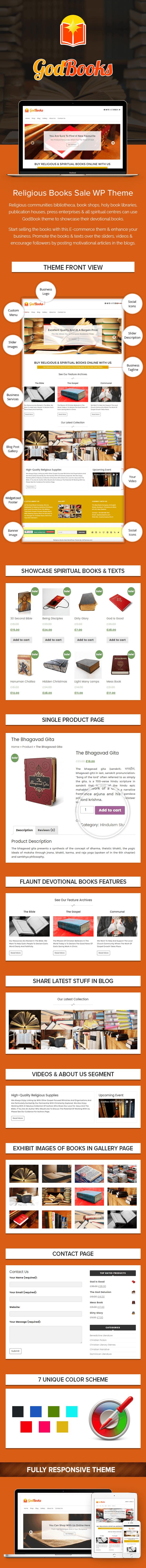 Religious Books Sale WordPress Theme