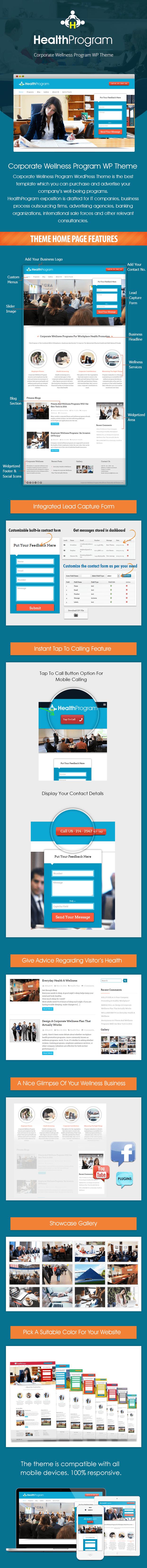 Corporate Wellness Program WordPress Theme