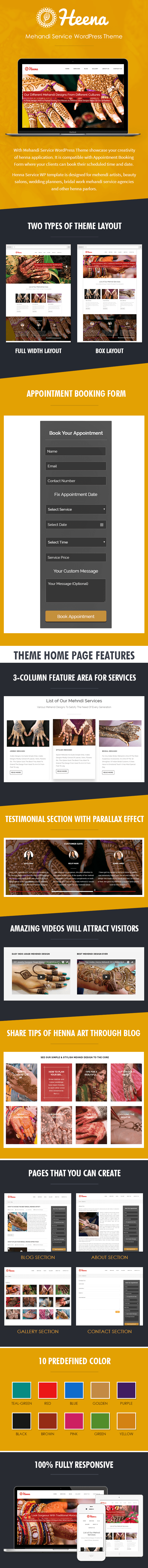 Mehandi Service WordPress Theme