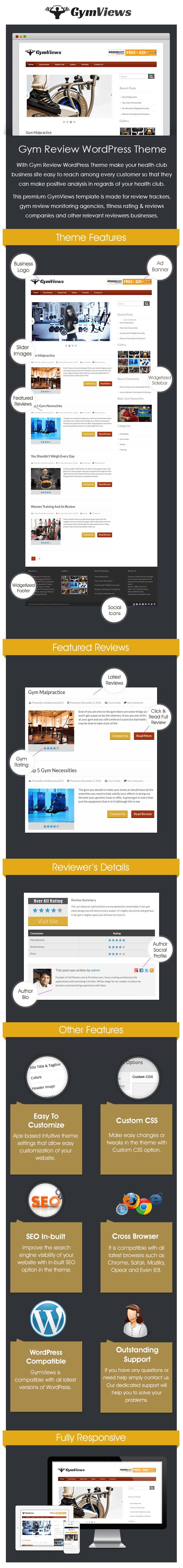 Gym Review WordPress Theme