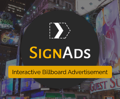 SignAds - Interactive Billboard Advertisement WordPress Theme