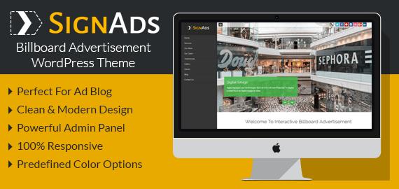 [SignAds] Bilboard Advertisement WordPress Theme