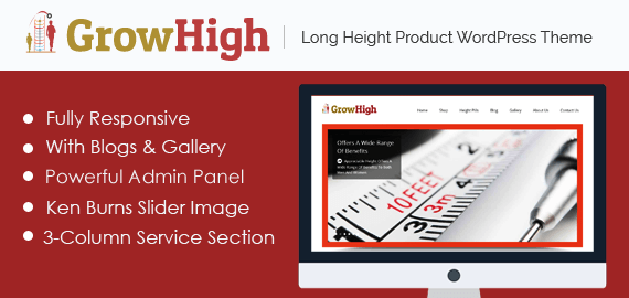 Long Height Product WordPress Theme