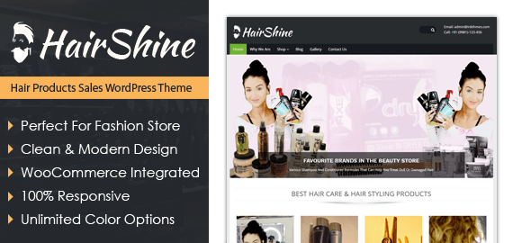 Hair Products Sales WordPress Theme