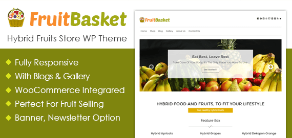 Hybrid Fruits Store WordPress Theme