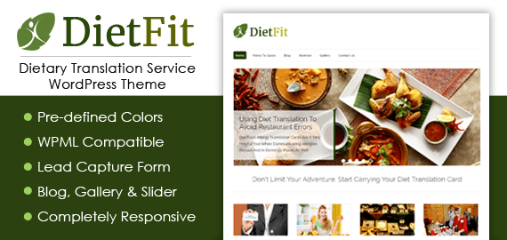 Dietary Translation Service WordPress Theme