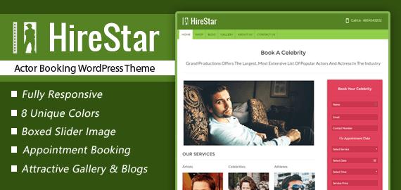 Actor Booking WordPress Theme