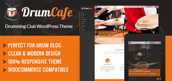 Drumming Club WordPress Theme