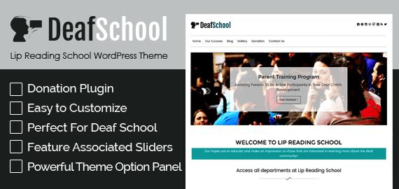 Lip Reading School WordPress Theme