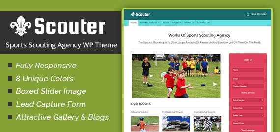 Sports Scouting Agency WordPress Theme