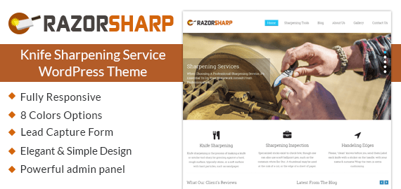 Knife Sharpening Service WordPress Theme