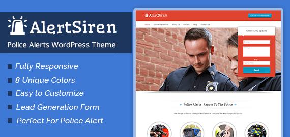 Police Alerts WordPress Theme