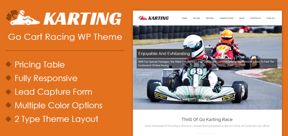 Go Kart Racing WordPress Theme