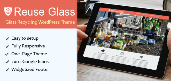 Glass Recycling WordPress Theme