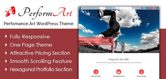 Performance Art WordPress Theme