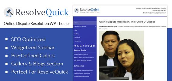 ResolveQuick – Online Dispute Resolution WordPress Theme