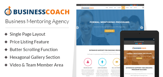 Business Mentoring Agency WordPress Theme