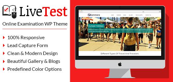 Online Examination WordPress Theme
