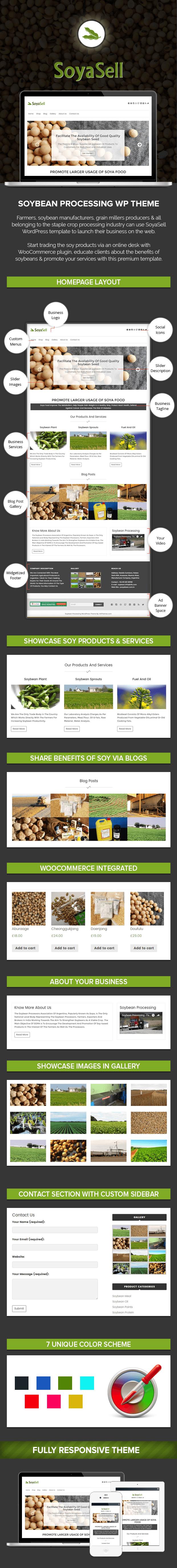 Soybean Processing WordPress Theme