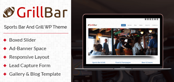 Sports Bar And Grill WordPress Theme