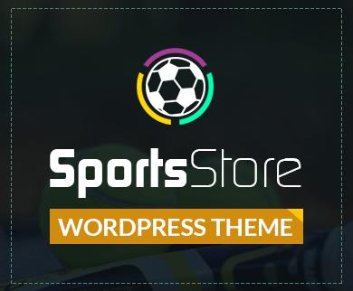 SportsStore - Sports Collectible Shop WordPress Theme