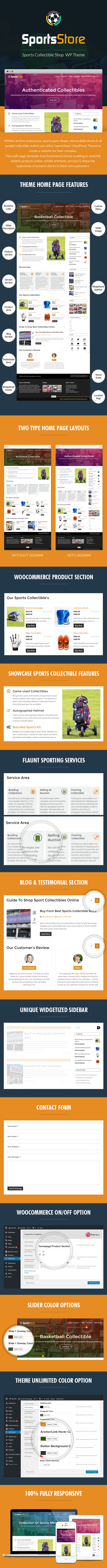 Sports Collectible Shop WordPress Theme