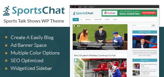 Sports Talk Show WordPress Theme