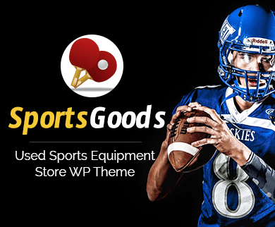 SportsGoods - Used Sports Equipment Store WordPress Theme