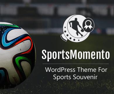 SportsMomento - Sports Souvenir & Momento WordPress Theme