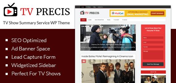 TV Show Summary Service WordPress Theme