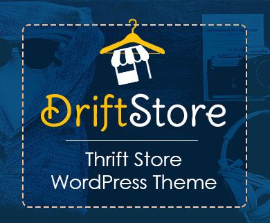 DriftStore - Thrift Store WordPress Theme