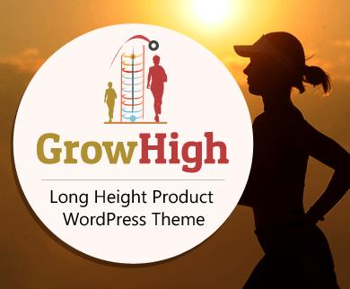 GrowHigh - Long Height Product WordPress Theme