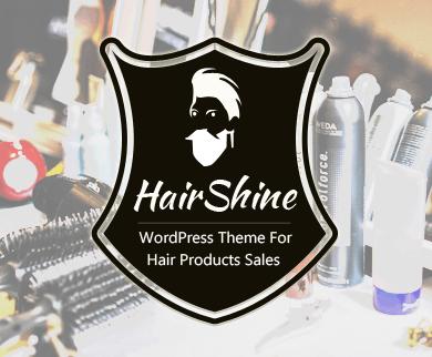 Hair Shine - Hair Products Sales WordPress Theme