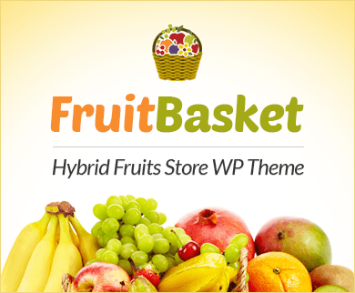 FruitBasket - Hybrid Fruits Store WordPress Theme