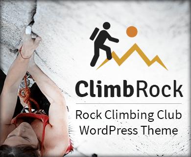 ClimbRock - Rock Climbing Club WordPress Theme