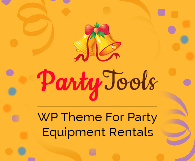 PartyTools - Party Equipment Rental WordPress Theme