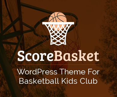ScoreBasket - Basketball Kids Club WordPress Theme