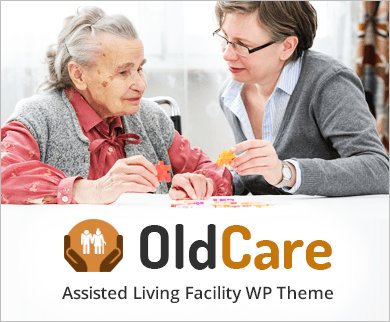 OldCare - Assisted Living Facility WordPress Theme